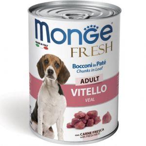 MONGE FRESH Adult veal–хапки за кучета в зряла възраст с телешко - 400 гр