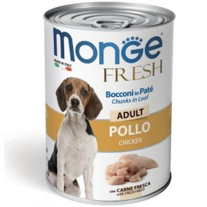 MONGE FRESH Adult chicken – хапки за кучета в зряла възраст с пилешко - 400 гр