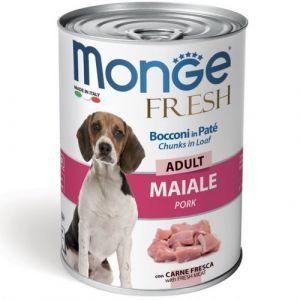 MONGE FRESH Adult pork – хапки за кучета в зряла възраст  със свинско - 400 гр