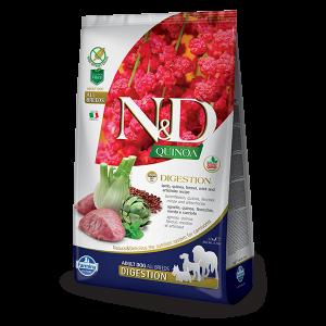 N&D Quinoa Digest Lamb - суха храна за кучета с киноа и агнешко