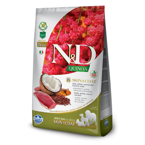 N&D Quinoa Skin&Coat Duck - суха храна за кучета с киноа и патица