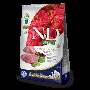 N&D Quinoa Weight Lamb - суха храна за кучета с киноа и агне