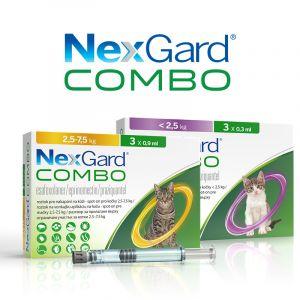 Nexgard Combo Cat - Спот Он форма с разтвор за цялостно вътрешно и външно обезпаразитяване при котки