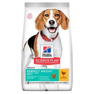 Hill's Science Plan Canine Adult Perfect Weight Medium 12 kg – За намаляване и поддържане на теглото при кучета от средни породи (10-25 кг) над 1 година