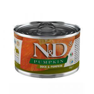 N&D Duck & Pumpkin Dog Mini - Пълноценна консервирана храна за кучета над 1 година от мини породи,  с патица и тиква - 140 гр