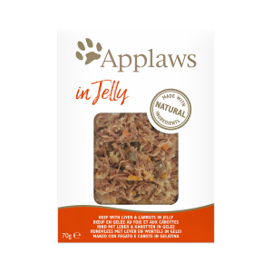 Applaws Beef with liver & carrots in jelly 70g - Пауч за котки с телешко, черен дроб и моркови в желе