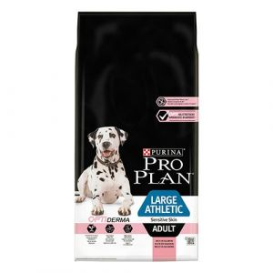 Pro Plan OPTIDERMA Large Athletic Adult Sensitive Skin - суха храна за кучета със сьомга 14 кг