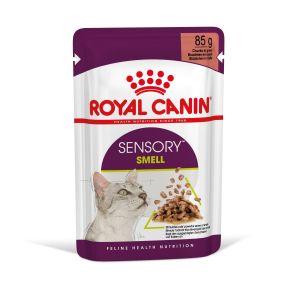 Royal Canin Sensory Smell in Gravy - пълноценна мокра храна със сос в пауч за котки в зряла възраст над 1 година - 85 гр