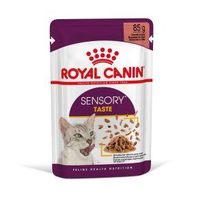 Royal Canin Sensory Taste in Gravy - пълноценна мокра храна със сос в пауч за котки в зряла възраст над 1 година - 85 гр