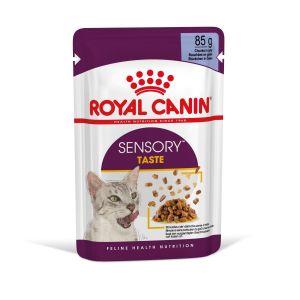 Royal Canin Sensory Taste in Jelly - пълноценна мокра храна хапки в желе в пауч за котки в зряла възраст над 1 година - 85 гр