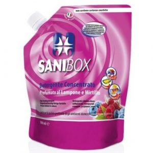 Professional Pets Sanibox LAMPONE e MIRTILLO - концентрат, почистващ препарат с аромат на малина и боровинки - 1000 мл