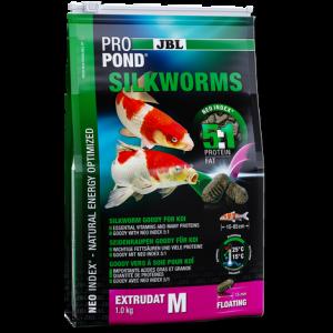 JBL ProPond Silkworms M - за средни по размер кои и езерни риби - с копринени буби