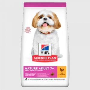 Hill's Science Plan Canine Small&Mini Mature 7+ - храна за кучета малки породи над 7г - 3 кг