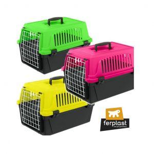 Транспортна клетка за кучета и котки Ferplast Atlas 10 NEON
