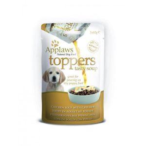 Applaws Dog Toppers Chicken Soup 3 x 60g - Овкусител за подрастващи  кученца с пилешко, пауч