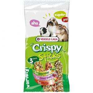 Versele-Laga Crispy Sticks Triple Variety Herbivores - 3 стика с различен вкус