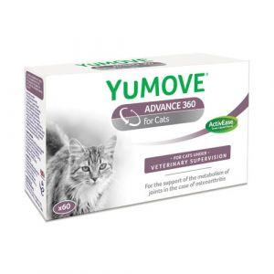 Lintbells YuMove ADVANCE 360 for Cats - овкусени таблетки за ставни проблеми (артрози) с екстракт от зеленоуста мида, магнезий и др. (за котки) - 60 таб.