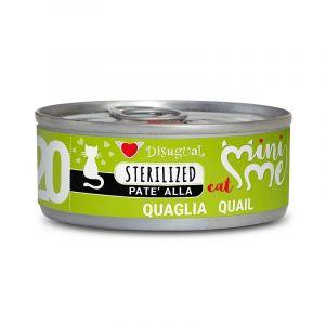 Disugual MINI ME STERILIZED Quail - пълноценна храна за кастрирани котки с пъдпъдък- 85 гр